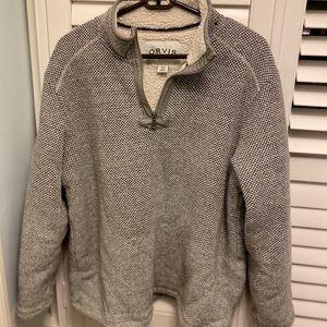 Orvis fleece lined pullover